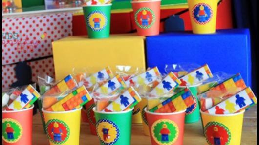 Lembrancinhas Festa Lego com baldinho e brindes