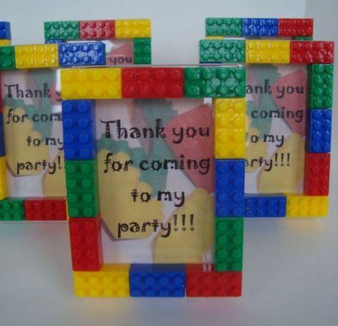Lembrancinhas Festa Lego porta retrato com moldura de lego