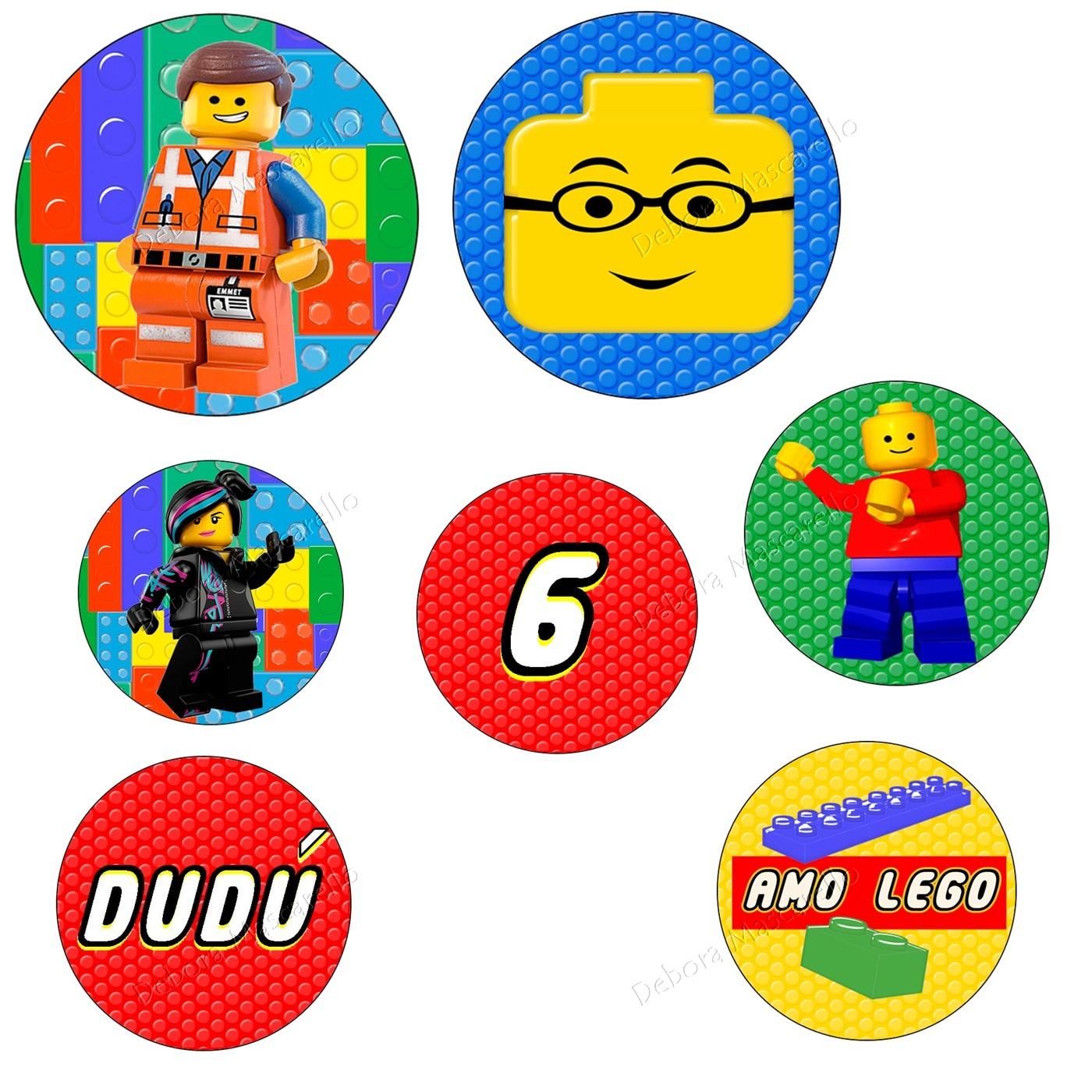 Kit Festa Lego para imprimir para toppers