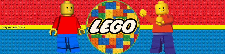 Kit Festa Lego para imprimir para garrafa de refrigerante