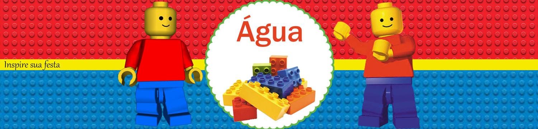 Kit Festa Lego para imprimir para garrafa de água personalizada