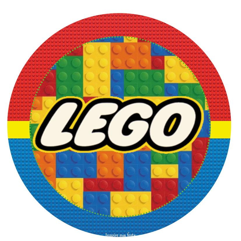 Kit Festa Lego para imprimir para tampa de latinha