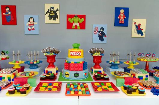Festa Lego Super Heróis da Marvel