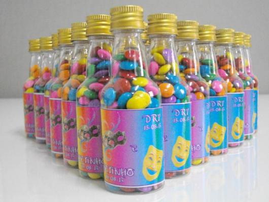 Garrafinhas para Lembrancinhas de Plástico para festa à fantasia