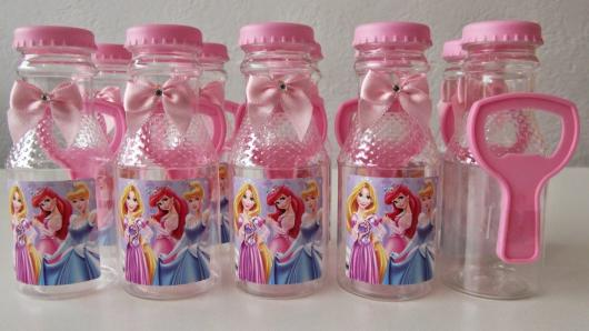Garrafinhas para Lembrancinhas de Plástico das Princesas Disney