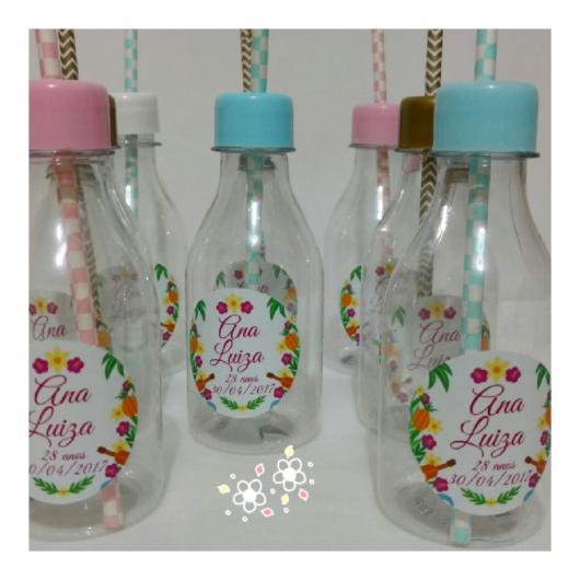 Garrafinhas para Lembrancinhas de Plástico com canudo para aromatizar