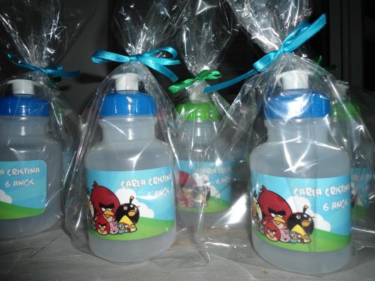 Garrafinhas para Lembrancinhas de Água Angry Birds