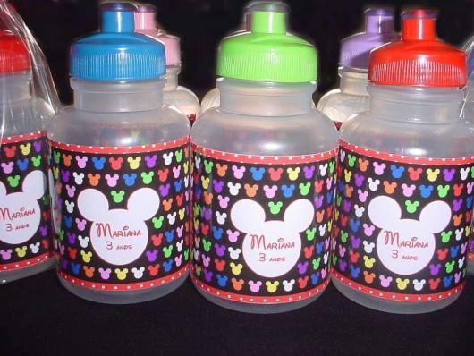 Garrafinhas para Lembrancinhas de Água do Mickey