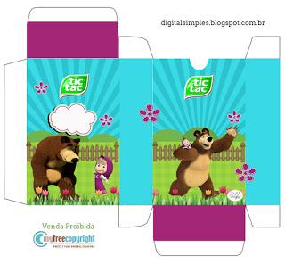 Kit Festa Masha e o Urso para Tic Tac