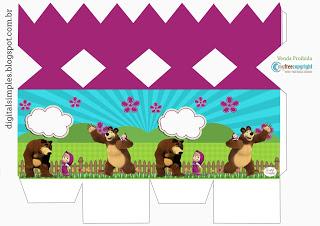 Kit Festa Masha e o Urso para saquinho surpresa