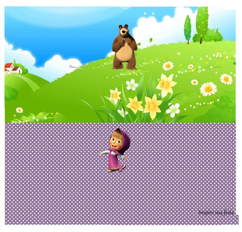Kit Festa Masha e o Urso para bombom