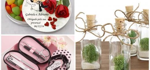 Lembrancinha de Casamento Simples modelos