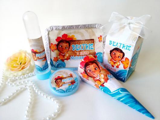 Lembrancinhas Moana Baby kit personalizados