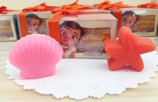Lembrancinhas Moana Baby sabonete com caixinha personalizada