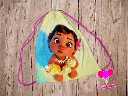 Lembrancinhas Moana Baby mochila com estampa da personagem