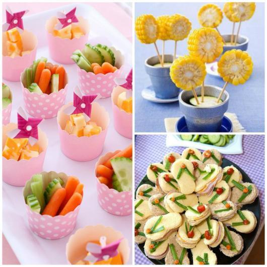 Dicas de o que servir em festa infantil de 1 ano: pratos especiais para crianças com legumes cozidos