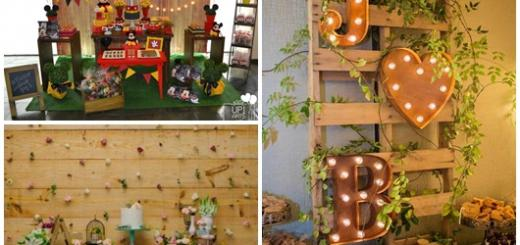 Painel de Festa modelos de madeira