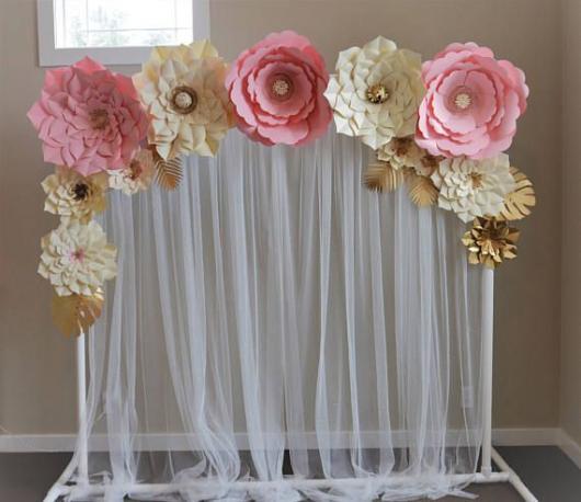 Painel de flores de papel 40 decora es lind ssimas para for Donde puedo comprar cuadros decorativos