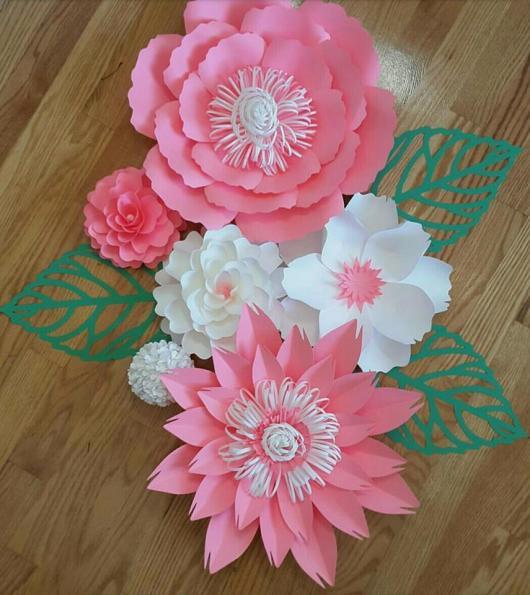 Painel De Flores De Papel 40 Decorações Lindíssimas Para Festas