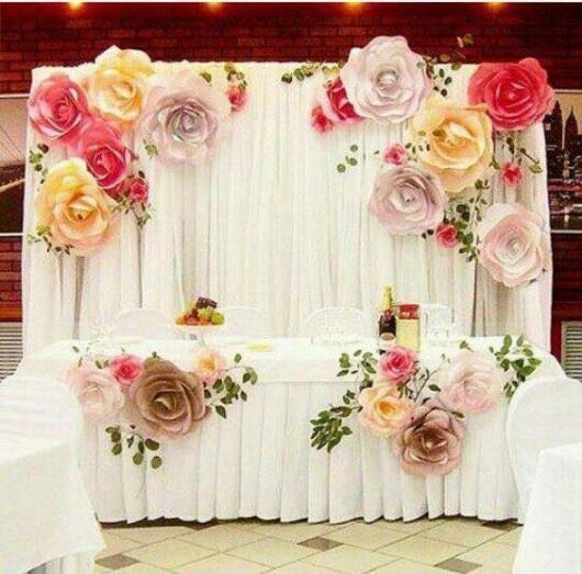 painel de flores de papel 40 decora es lind ssimas para festas. Black Bedroom Furniture Sets. Home Design Ideas