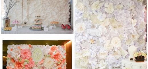 Painel de Flores de Papel modelos