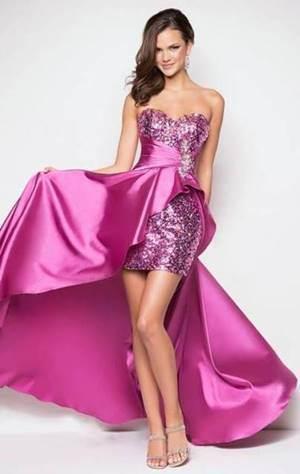 vestido de debutante rosa modelo 2 em 1