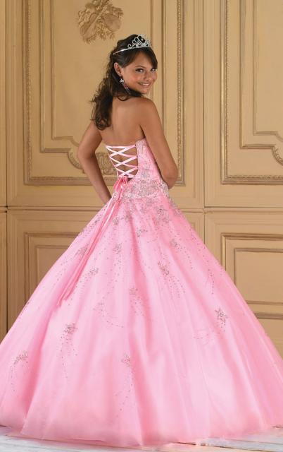 vestido de debutante rosa tom bebê