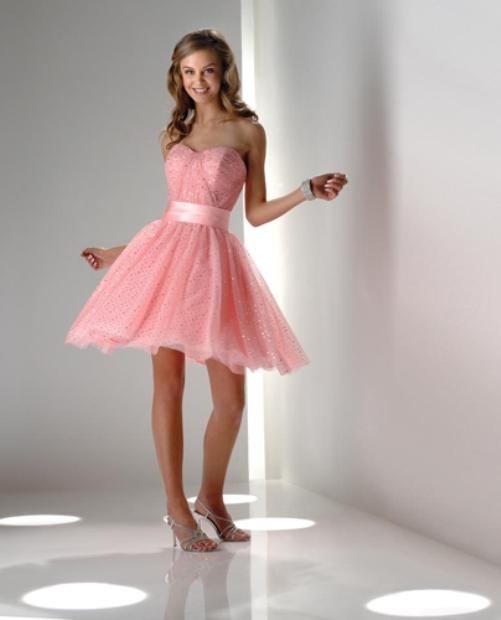 vestido de debutante rosa bebê