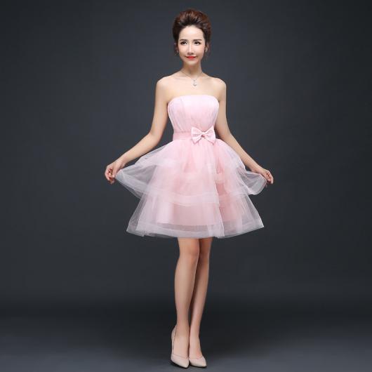 vestido de debutante rosa com saia de tule