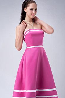 vestido de debutante rosa tomara que caia simples