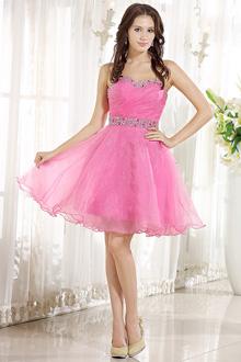 vestido de debutante rosa tomara que caia com tule