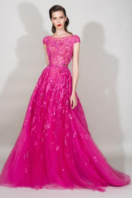 vestido de debutante rosa com saia longa