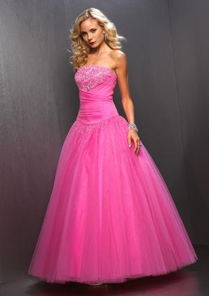 vestido de debutante rosa longo com saia de tule