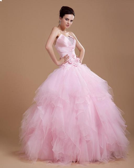 vestido de debutante rosa tonalidade bebê