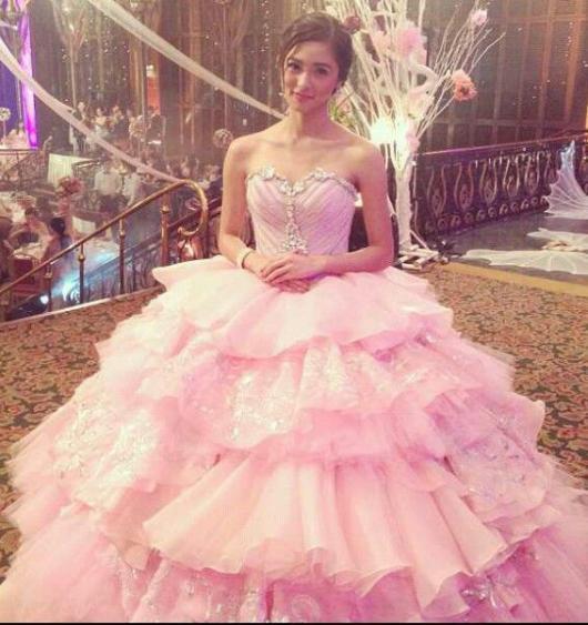 fotos de vestido de debutante rosa