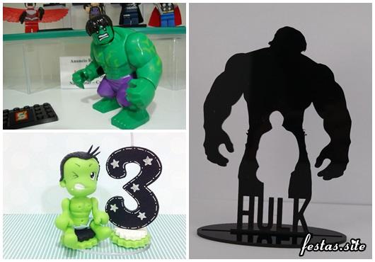 Topo de Bolo do Hulk acrílico
