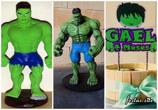 Topo de Bolo do Hulk de biscuit