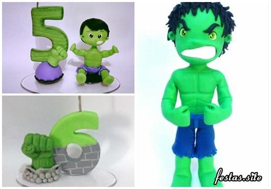 Topo de Bolo do Hulk com iddade do aniversariante