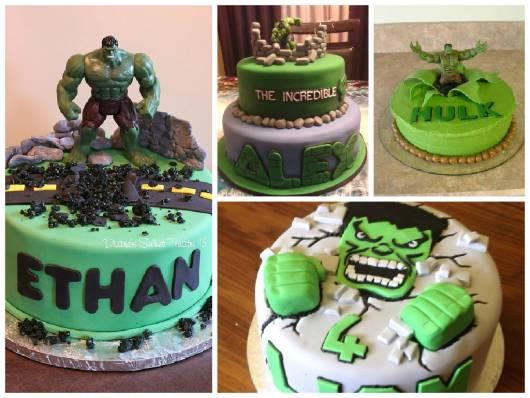 Bolo do Hulk modelos de bolo do hulk redondo
