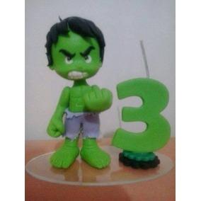 Bolo do Hulk topo de bolo de biscuit