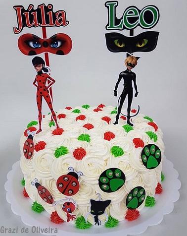 bolo Ladybug e Cat Noir