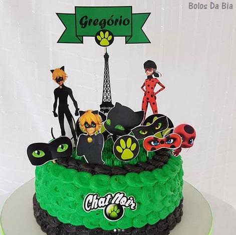 bolo verde Cat Noir