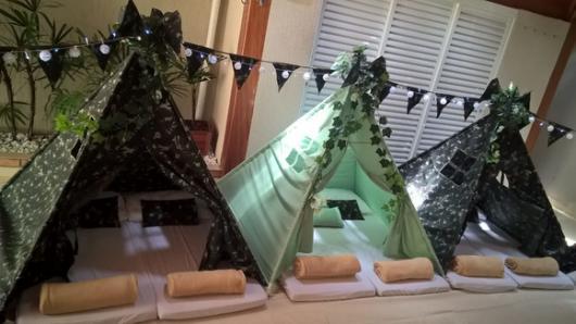 cabanas para festa de pijama para alugar