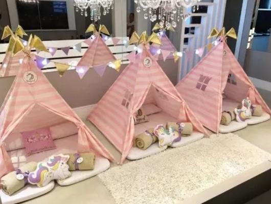 cabanas para festa de pijama menina