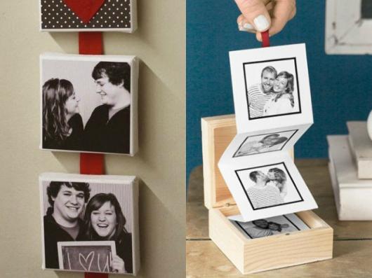 O que colocar na Caixa dos 5 Sentidos visão caixinha surpresa com fotos do casal
