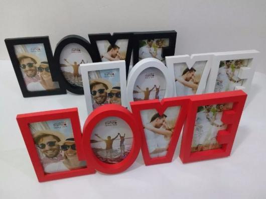O que colocar na Caixa dos 5 Sentidos visão porta retrato de madeira no formato de love