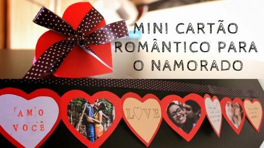 O que colocar na Caixa dos 5 Sentidos visão mini cartão romântico