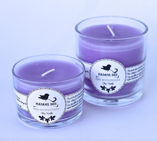O que colocar na Caixa dos 5 Sentidos olfato vela perfumada de lavanda