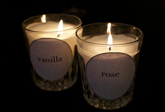 O que colocar na Caixa dos 5 Sentidos olfato vela perfumada cheiro de rosas