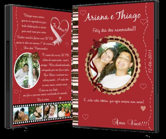 O que colocar na Caixa dos 5 Sentidos audição DVD com fotos do casal
